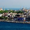 Гледка към Света София и Синята джамия от кулата Галата