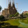 La Sagrada Familia wide angle photo