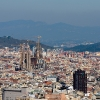 La Sagrada Familia view from Montjuic