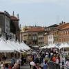 Пазар на главния площад в Местре