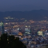 Night photo of Barcelona from Montjuic